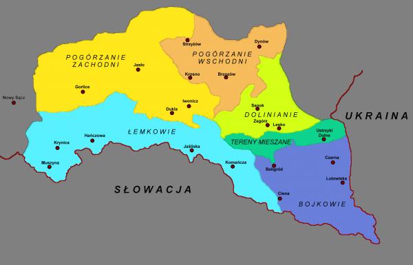 bieszczady_bojkowie_lemkowie_mapa